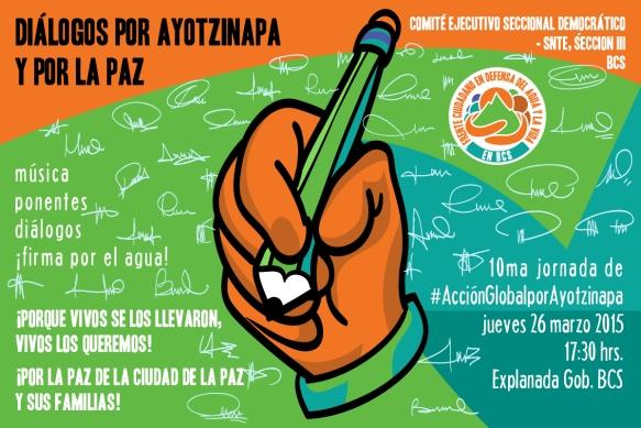 Por Ayotzinapa y la paz de La Paz