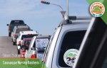 """Con vehículos propios o """"de rayte"""" inicia la caravana"""