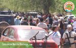 Reunión de la caravana en Valle Perdido con autoridades estatales y municipales