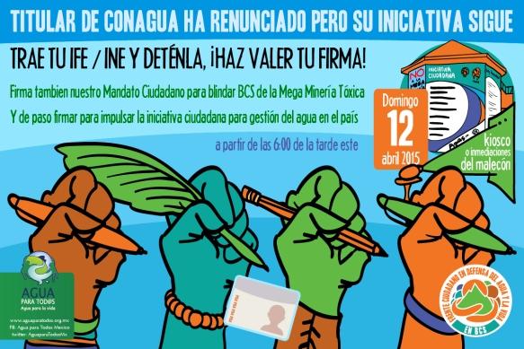 Titular de CONAGUA se va, sigue su iniciativa